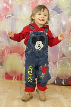 MICKEY MOUSE BIRTHDAY Personalized Shortalls by SmashingCupcakes