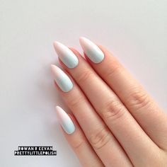 Pastel ombre gradient stiletto nails, Nail designs, Nail art, Nails, Stiletto nails, Acrylic nails, Pointy nails, Fake nails, False nails by prettylittlepolish on Etsy https://www.etsy.com/listing/228940522/pastel-ombre-gradient-stiletto-nails