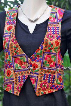 Designer Embroidered Jacket – India1001.com
