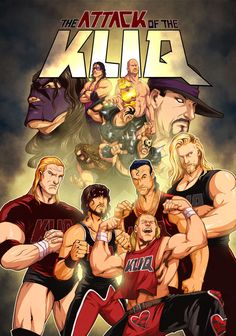 "Here's a piece i did for WWE Magazine it accompanied one of their ""What If"" stories! Can you name all of the wrestlers? WWE Attack of the Kliq Wrestling Posters, Watch Wrestling, Wrestling Wwe, Wwf Superstars, Wrestling Superstars, Wrestle Kingdom, Aj Styles Wwe, Eddie Guerrero, Catch"