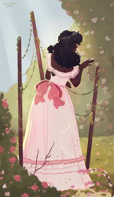 Black Girl Cartoon, Black Girl Art, Black Women Art, Art Girl, Black Girls, Pretty Art, Cute Art, Wallpapers Rosa, Arte Black