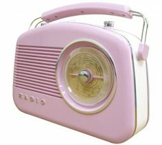 Pink Steepleton Retro Radio, House of Bath,