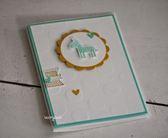stampin with beemybear: Inspire Your Day - Große Punkte, Stampin'up, Zoo Babies, Baby Card
