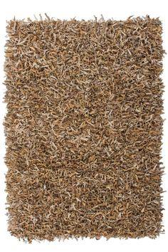 Uberlegen Teppich Wohnzimmer Carpet Hochflor Design BLADE BORDER SHAGGY UNI RUG 100%  Viskose 160x160 Cm Quadratisch Braun | Teppiche Günstig Online Kauu2026