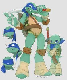 Leonardo es el lider y hermano mayor de sus hermanos la cual en varias ocaciones sus hermanos no lo ...