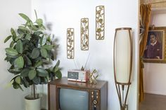 A Millennial in Love With Midcentury Modernism Creates Time Capsule Bachelor Pad - Curbedclockmenumore-arrow : Miles McDermott didn't want midcentury inspired; he wanted the real deal Turquoise Walls, Mid Century Modern Living Room, Kitchens And Bedrooms, Living Room Inspiration, Midcentury Modern, Home Interior Design, Just For You, House Design, Time Capsule