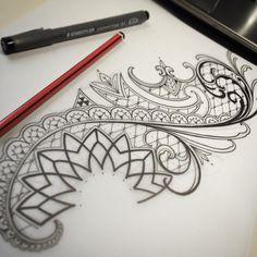 Sketchy Sunday's, getting through this weeks designs! Tattoogoldnz – tak… Sketchy Sunday's, getting through this weeks designs! Tattoogoldnz – taking … Body Art Tattoos, Tattoo Drawings, Sleeve Tattoos, Cool Tattoos, Mosaic Tattoo, Mandala Tattoo, Henna Mandala, Rune Tattoo, I Tattoo