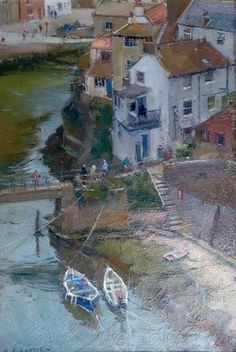 High Viewpoint over the Beck, Staithes david curtis