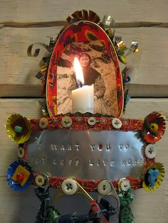 """""""I want you to buy less live more""""  by  Maria ...Skapande, via Flickr.... A message to myself...#shrine"""