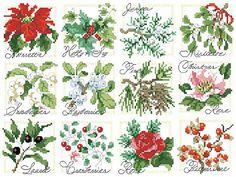 Cross Stitch Pattern Christmas Botanical Ornaments From Kooler Design Studio