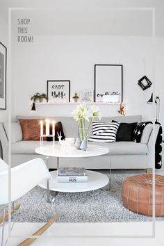 SHOP THIS ROOM: A SCANDINAVIAN LIVING ROOM