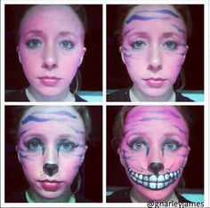 Cheshire Cat #facepaint #bodyart #makeupbymarley #aliceinwonderland #cheshirecat