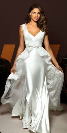 Irina Shayk for Alessandro Angelozzi Couture -- CLICK here for your Dream Wedding Dress and Fashion Gown! https://www.etsy.com/shop/Whitesrose?ref=si_shop