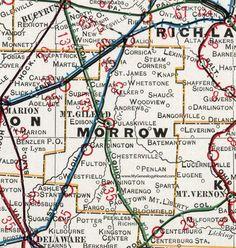Fulton County Ohio 1901 Map Wauseon Archbold Fayette Delta