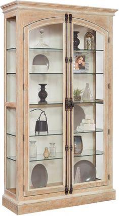 Hailey Door Curio Brown Furniture, Home Furniture, Pulaski Furniture, Condo Living Room, Door Displays, Arched Doors, Adjustable Beds, Quality Furniture, Glass Shelves