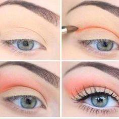 spring makeup, peach smokey eyes || Find what you need & more from Sephora + 10% cash backhttp://www.studentrate.com/all/get-all-student-deals/Sephora-Student-Discounts--/0  #makeup #beauty #style