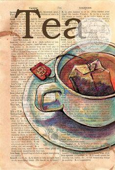 Tea, art by Flying Shoes Art Studio, Kristy Patterson