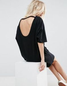 ASOS T-Shirt Dress with Open Neck Detail