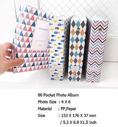 "Mine At Home 4"" x 6"" Baby Wedding Travel memoir Photo Album With 80 Pockets"