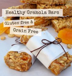 Grain Free Granola Bars Learn how to make Delicious, Healthy Grain Free Granola Bars. @ Learn how to make Delicious, Healthy Grain Free Granola Bars. Gluten Free Snacks, Foods With Gluten, Sin Gluten, Healthy Granola Bars, Free Breakfast, Breakfast Ideas, Clean Breakfast, School Breakfast, Breakfast Bars