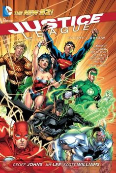 Justice League, Vol. 1: Origin (The New 52) by Geoff Johns,http://www.amazon.com/dp/1401237886/ref=cm_sw_r_pi_dp_kRAusb1W0GFBMQV7