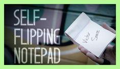 Self-Flipping Notepad (DVD and Gimmick) by Victor Sanz, Magic Trick,Illusion,Close up magic,Mind Magic props,street,Fun