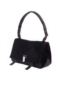 Proenza Schouler PS Courier Suede & Pony Leather Shoulder Bag