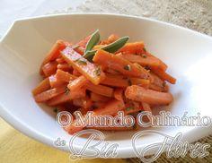 Cenoura com Sálvia | O Mundo Culinario de Bia Flores
