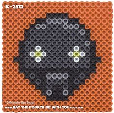 K-2SO Perler Pattern / We add new patterns every week! Follow us to make sure you don't miss any! / Star Wars perler, hama bead, cross-stitch, knitting, Lego, pixel pattern / Patterns are © Your work must include © if posted, and can not be sold. See blog