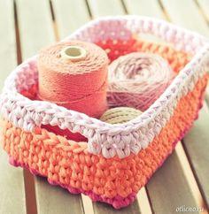 Delicadezas en crochet Gabriela: Cesta Útil ganchillo ganchillo
