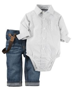 c886709759891 2-Piece Bodysuit   Jean Set. Style Bébé GarçonJeans Pour BébéVêtements ...