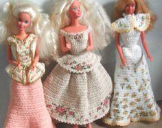 Häkeln Sie Mode Puppe Barbie Pattern - #639 HAND bemalte TRIO