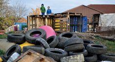 Israeli Inspiration  Junkyard Playground   Tuvia School of  Temple Menorah 1101 Camino Real Redondo Beach, Ca 90277 310-316-8997