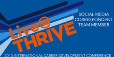 """Live@THRIVE Twitter Header // Create Twitter header to be used for the DECA Live@THRIVE team // 2013 // Adobe Illustrator CS6 // Place THRIVE logo vector, add and vector edit """"Live @"""", add text"""
