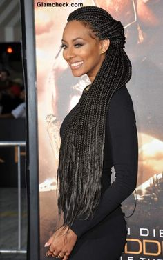 Keri Lynn Hilson's Cornrow Hairdo at Riddick World Premiere