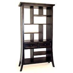Japanese: 74 in. High Ming Curio Display Shelf Unit