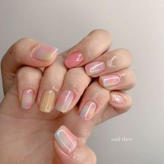 Classy Nails, Stylish Nails, Trendy Nails, Cute Nails, Hair And Nails, My Nails, Korean Nail Art, Minimalist Nails, Best Acrylic Nails