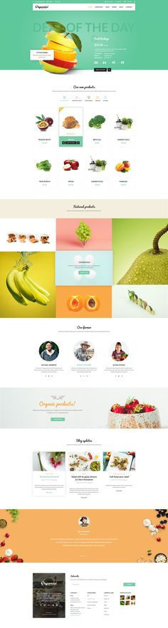 Organici is the premium PSD template for Organic Food Shop. Built especially for any kind of organic store: Food, Farm, Cafe…, Organici brings in the fresh interface with natural and healthy style. The template includes essential pages for a Organic Store…