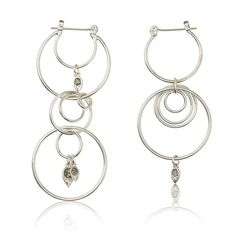 Eclipse Hoop Earrings - Silver