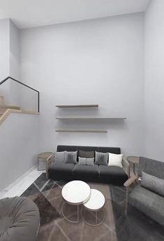 Loft House Design, Small House Interior Design, Small Apartment Design, Apartment Interior Design, Bathroom Interior Design, Small Room Design Bedroom, Home Room Design, Home Decor Bedroom, Room Decor