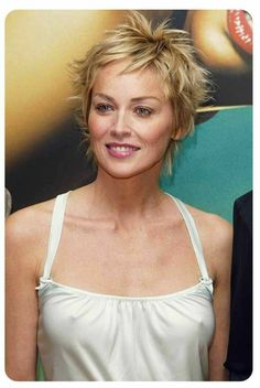 Sharon Stone Casual Pixie Hair - Hairstyles for Women Prom Hairstyles For Short Hair, My Hairstyle, Pixie Hairstyles, Pixie Haircut, Short Hair Cuts, Short Hair Styles, Sharon Stone Short Hair, Sharon Stone Hairstyles, Sharon Stone Photos