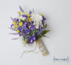 Lavender Bouquet Wildflower Bouquet Boho by blueorchidcreations