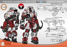 Infinity Exclusive: Taskmasters, Bakunin SWAST Team - Bell of Lost Souls Game Character Design, Character Design Inspiration, Character Concept, Character Art, Infinity Art, Infinity The Game, Armor Concept, Concept Art, Overwatch