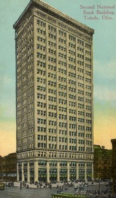 Toledo Ohio Postcard Second National Bank Building C 1899