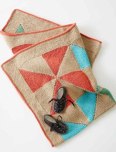 Country Quilt Baby Blanket | knit | free pattern...