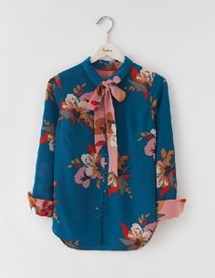 Boden Sofia Silk Blouse Blue Painted Floral Women This 100% silk blouse will have you dancing all night long. Youve been asking for it to come in prints...and we listened. The eye-catching hotchpotch and the striking florals will have all eyes on you http://www.MightGet.com/april-2017-1/boden-sofia-silk-blouse-blue-painted-floral-women.asp