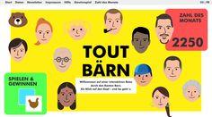 Kommen Sie mit auf eine interaktive Reise durch den Kanton Bern. Ein Online-Erlebnis über erstaunliche Fakten und unterhaltsame Zahlen aus dem Kanton Bern.   #webagentur #webdesign #bern Bern, Kanton, Web Design, Marketing, Movie Posters, Some Amazing Facts, Numbers, Viajes, Design Web