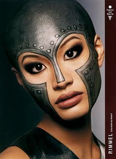 A great way to make a nice mask without it being a mask! great detail and face paint!