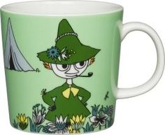 The Arabia Moomin Snufkin Mug brings to life this character found in the Finnish book by Tove Jansson. This porcelain mug features a beautiful and colorful illustration of this unique character to enjoy while sipping your favorite beverage. Moomin Shop, Moomin Mugs, Troll, Moomin Valley, Tove Jansson, Green Mugs, Porcelain Mugs, Wonderwall, Mug Cup
