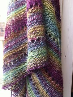 I've got fractal spinning on my short term to do list - this would be a good project! shawl from fractal handspun yarn